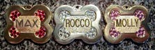 fancy bone name dog id tags