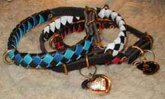 custom colored leather collars