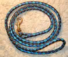 braided leather rolled leashes
