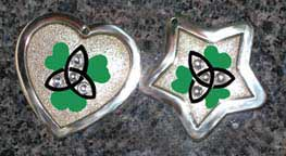 celtic knot clover crystal tags