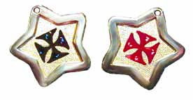 Maltese cross tags