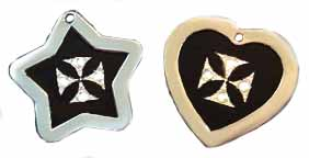fancy maltese cross tags