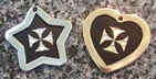 maltese cross engraved id tags