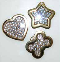 diamond 18k gold id tags charms