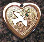 peace dove crystal tags