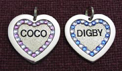 jeweled name crystal tags