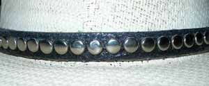 western studded leather hatbands