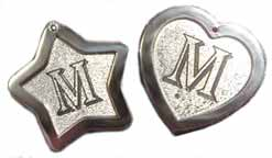 nickle silver initial luggage tags