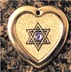 Jewish Star of David engraved pendants
