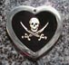 jolly roger pirate pendants engraved tags