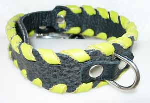 western dog collars laced