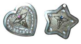 crystal medical tags