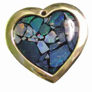 opal stone inlaid inlay charms tags