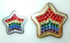 rainbow crystal tags charms