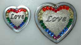 pride love charms jewelry