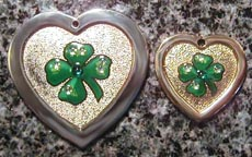 four leaf clover pet dog cat id tags