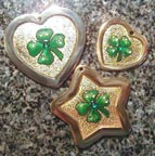 shamrock keychains luggage tags