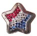 crystal American flag id tags