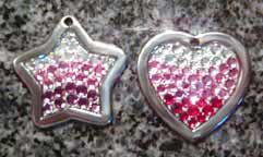 crystal rainbow pet id tags